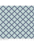 Baumwollstoff Patchworkstoff Blue Meadow Lattice