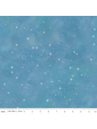 Baumwollstoff Patchworkstoff Blue Christmas Snow Flurry